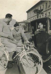 Giuseppe Ambrosini con Alfredo Bovet e Learco Guerra 1925