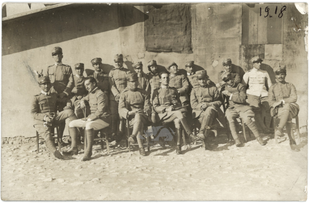 Con altri militari, Ghemira 1918