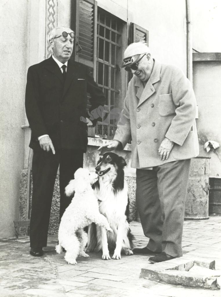 Giuseppe Ambrosini con Vittorio Varale. Massa di Cesena, 1969. Foto G. Palmas
