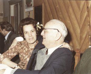 Giuseppe Ambrosini con la figlia Tina, 1970-1980